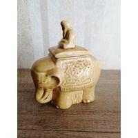 Чайница слон керамика