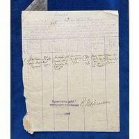 Список 1918 год. Щетовод