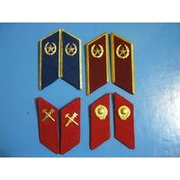 Подборка Петлиц Советских Чекистов (КГБ,ВВ,МВД,ГАИ)
