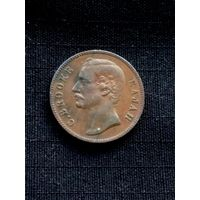 САРАВАК 1 цент 1870 г. (2 -й Белый раджа Чарльз Брук )