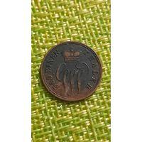 Шаумбург Липпе 1 пфенниг 1858 г