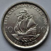 Восточные Карибы, 10 центов 2009 г