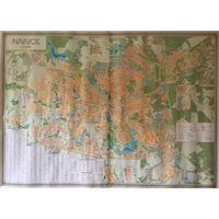 Настенная карта Минска 1:21 000 / 2009 г.