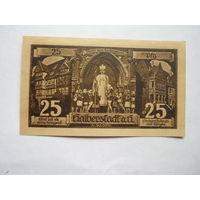Германия. 25 пфеннигов 1921г.