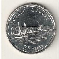 Канада 25 цент 1992 Квебек