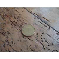 ГОЛЛАНДИЯ 5 гульденов 1998 год с рубля