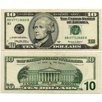 США. 10 долларов (образца 1999 года, P506)