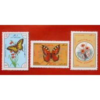 Афганистан. Бабочки. ( 3 марки ) 1983 года.