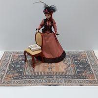 Ковёр для кукол (кукольный дом в викторианском стиле, подойдёт к Дом мечты ДеАгостини DeAgostini, миниатюра 1:12)