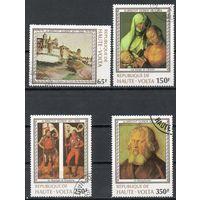 Марки Верхняя вольта 1978. Живопись. Серия из 4 марок.