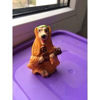 Фигурка Игрушка Собака Колли с гитарой