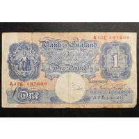Великобритания, 1 фунт 1940 год,  - Rедкая -