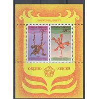 [127] Индонезия 1980.Флора.Цветы.Орхидеи.  БЛОК.