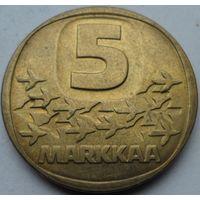 Финляндия 5 марок 1983 года. Сохран!