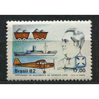Самолет, корабль. Бразилия. 1982. Полная серия 1 марка. Чистая