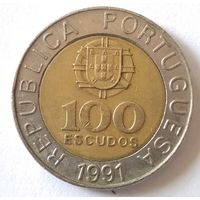 Португалия, 100 эскудо, 1991 г.