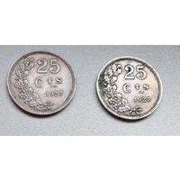 Люксембург 25 сантимов, 1927 6-2-5*6