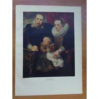 Ван Дейк, литография, Семейный портрет, 1959