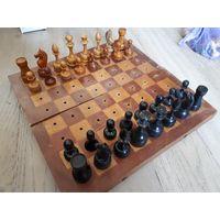 Деревянные советские шахматы. Редкий набор.