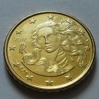 10 евроцентов, Италия 2017 г., AU
