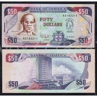 """Ямайка  50 долларов 2010г. """"Портрет Сэма Шарпа. Здание Центрального Банка Ямайки"""".  Состояние UNC .    распродажа"""