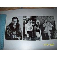 3 редких фото Гребенщиков,Малинин,Розембаум 1991г