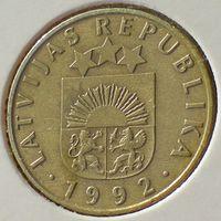 Латвия, 20 сантимов 1992 года, медь-никель-цинк/ 4 грамма
