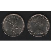Родезия _km1 6 пенсов (5 центов) 1964 год (dl7)(a)(f06)*