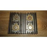 Радиатор охлаждения 152х124х27мм (с транзисторами КТ802Ах4шт)