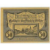 Австрия, Нотгельд 50 Heller 1920 год.
