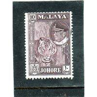 Малайзия. Джохор. Mi:MY-JO 148. Султан Исмаил ибн Султан Ибрагим, Тигр (Panthera tigris). 1960.