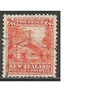 Новая Зеландия. Жилище Маори. 1935г. Mi#192.