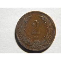 Венгрия 2 филлера 1894г