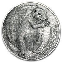 """Палау 5 долларов 2013г. """"Берберийский суслик"""". SWAROVSKI. Монета в капсуле; подарочном футляре; номерной сертификат; коробка. СЕРЕБРО 31,10гр.(1 oz)."""