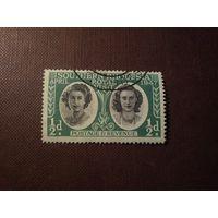 Южная Родезия 1947 г.Принцессы Елизавета и Маргарет .