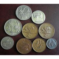 ЮАР. 9 монет 1965-2003 г.