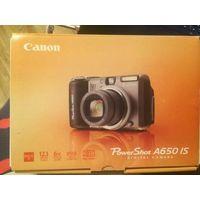 Фотоаппарат Canon A650IS, полный комплект, не работает, необходима замена платы, есть заключение сервисного центра, где указано название платы. На экране есть небольшие полоски сбоку, но дальше не иду