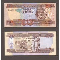 Банкнота Соломоновы о-ва 20 долларов префикс С/4 (2008) UNC ПРЕСС