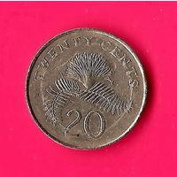 11-33 Сингапур, 20 центов 1989 г.