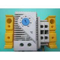 Термостат  KTS-1141 на DIN-рейке  с доп.элементами для монтажа