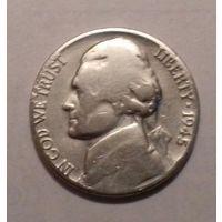 5 центов, США 1945 P, серебро