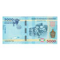Бурунди 5000 франков 2015 года. Состояние UNC!
