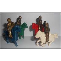 Металлические фигурки - Рыцари на лошадях - 1996 - 4 шт.