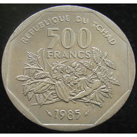Чад 500 франков 1985 (2-308)