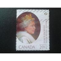 Канада 2012 королева Елизавета 2 - 60 лет на троне