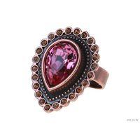 Кольцо Тхеба - медное покрытие, розовые кристаллы Swarovski