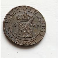 Голландская Ост-Индия 1/2 цента, 1945 4-1-52