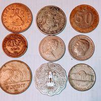 Монеты разных стран мира с рубля. Лот 5