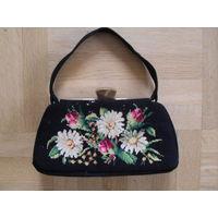 ВИНТАЖНЫЕ сумочки женские. 50-е годы. Натуральная замша