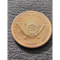 Почтовый жетон  1990  Польша